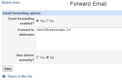 Usermin create forward