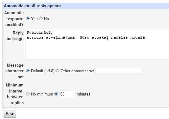 Usermin create responder