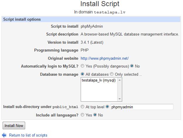 Installscripts